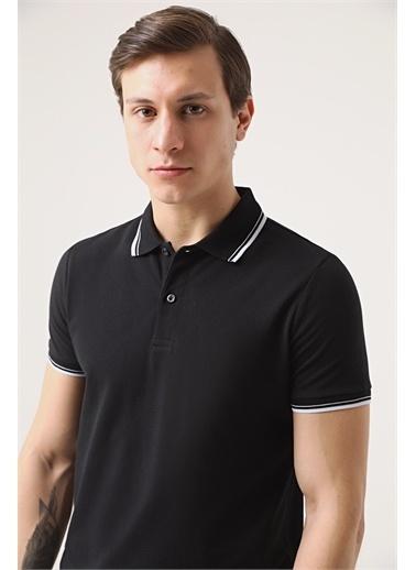 TWN Twn Slim Fit Vizon Pike Dokulu T-Shirt Siyah